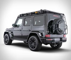 """After unveiling the 662 kW Mercedes-AMG 900 performance SUV, Brabus has shown off this off-road-honed G-Class, dubbed the """"Adventure"""". Mercedes G Wagon, Mercedes Benz G Class, Mercedes Amg, Off Road Tires, Luggage Rack, Fender Flares, Roof Rack, Sport Cars, Offroad"""