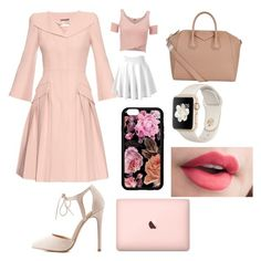 """""""Pretty n pink"""" by lix-wxtson on Polyvore featuring Alexander McQueen, Lipsy, Charlotte Russe and Givenchy"""