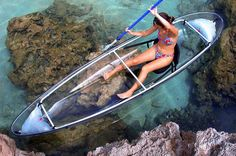 Clear Blue Hawaii Molokini 2 Passengers Polycarbonate Clear Kayak.