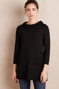 Rib-Trimmed Sweater Tunic - anthropologie.com