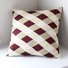Love the colors in this pillow--Patchwork Silk Pillow Cover by Home From India