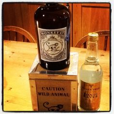 Bottle 452 of the 2011. Monkey 47 distillers cut 47% abv. Excellent packaging looking like an old tea chest.