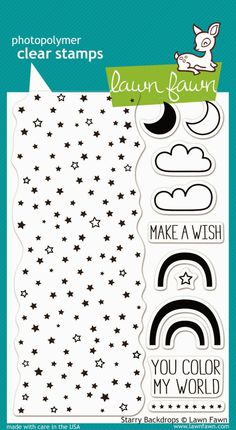 New from Lawn Fawn. New for CHA-W 2014. They will have 12 new stamp sets and 15 dies. Starry Backdrops.