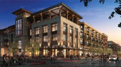 Part of the Clearfork Master Plan; two mixed use buildings totaling 392 residential units with of retail. Construction type and Office Building Architecture, Brick Architecture, Building Exterior, Building Facade, Mix Use Building, My Building, Building Design, Masterplan, Modern Buildings