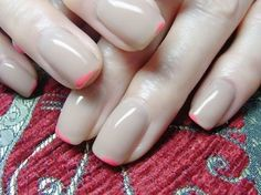 lacquered nude with the tiniest hint of a pink tip