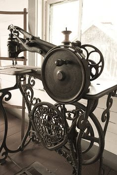 I don't know why this is linked to Amazon, but this old leatherworking sewing machine is fabulous!