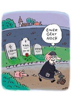 Humor, Einer geht noch, Witwe