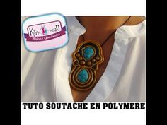 TUTO FIMO POLYMERE SOUTACHE EN PATE POLYMERE - YouTube