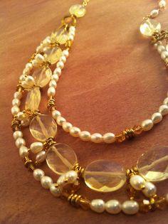 Pearls and Quartz Necklace.