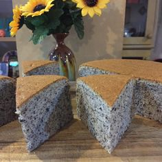 Black Sesame Sponge Cake Ingredients: 65 gm cake flour 1/2 tsp baking powder 40 gm black sesame powder 1/8 tsp salt 5 egg yolks 50 gm corn oil 80 ml milk 5 egg whites 80 gm castor sugar 1/4 …