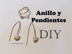 DIY. Anillo y pendientes muy facil. Ring and earrings easy