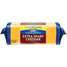 Kraft Natural Cheese Extra Sharp Cheddar Cheese, 32 oz