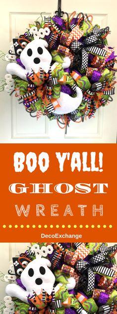 BOO Y'all! Ghost Wreath by DecoExchange / DamonOates.com