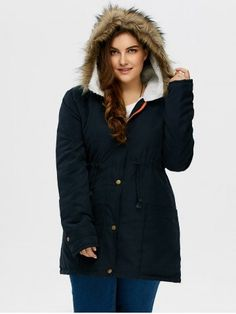 GET $50 NOW   Join RoseGal: Get YOUR $50 NOW!http://www.rosegal.com/plus-size-outerwear/plus-size-drawstring-hooded-parka-945060.html?seid=3634767rg945060