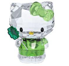 Swarovski Hello Kitty Lucky Charm Four-leaf, Cat Clover Crystal Figurine 5004741
