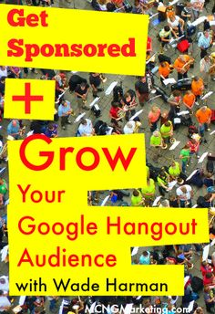 Learn How to Grow Your Google Hangout on Air Audience and Get Sponsors. Featuring @blogger32 on the episode 17 of the Pictures to Profits Podcast. http://www.mcngmarketing.com/episode17