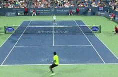 Federer Lebroning like a boss GIF