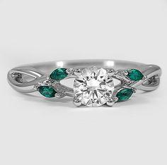 Nature inspired diamond ring.