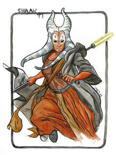 Star Wars - Shaak Ti by Joe Quinones