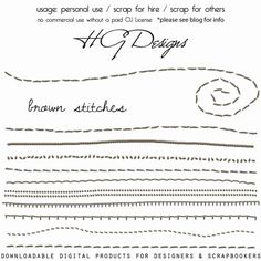 brown stitches: free png download
