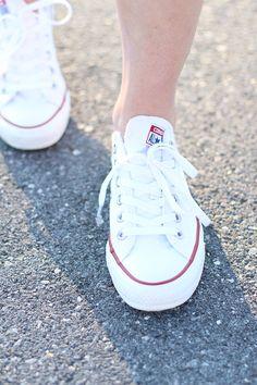 White Converse Chucks