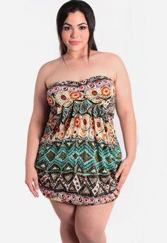 Plus size long tube dress