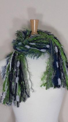 Seattle Seahawks - Football Scarves NFL Scarfs - Navy, Green, Grey, and White