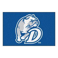 Drake Bulldogs Blue Tufted Area Rug