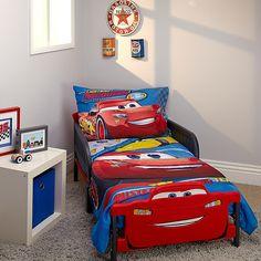 Disney Cars Bedroom, Car Bedroom, Kids Bedroom, Bedroom Decor, Sibling Bedroom, Bedroom Ideas, Toddler Car Bed, Toddler Quilt, Kids Car Bed