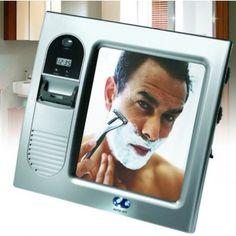 Radio-espejo de ducha para afeitarse
