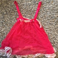Victoria secret flirty lingerie Hot pink with light pink edge , victoria secret see thru flirty top! Barely worn have matching panties forgot to post pic! Victoria's Secret Intimates & Sleepwear