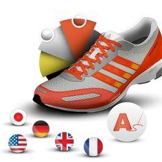 The adidas adiZero™ Adios running shoes. Worn by Haile Gebrselassie when he ran a World Record 2:03:59 marathon