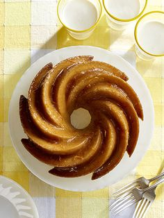 "This Orange Blossom Bundt cake can be made up to two days ahead. Its shape is courtesy of a ""heritage"" pan."