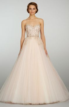 Bridal Gowns: Lazaro Princess/Ball Gown Wedding Dress with Sweetheart Neckline and Natural Waist Waistline