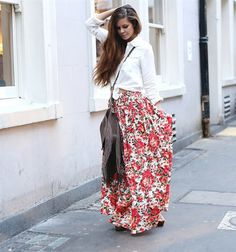 Maxi skirt outfit ideas for summer or spring 2015/2016