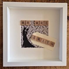 Handmade Wedding, Anniversary Scrabble Picture Shadow Box Frame | eBay