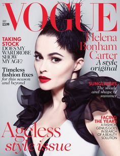 Helena Bonham Carter's Vogue UK Cover is GORGEOUS