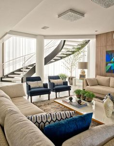 Dúplex leve e #luxuoso em Santa Catarina! Residência de 800 m² esbanja claridade http://ow.ly/R6WtO