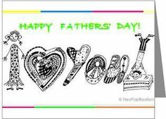 """Students create Mothers Day and Fathers Day Cards using the """"NeoPopRealism"""" method."""