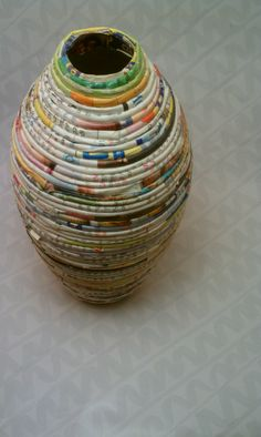Recycled Magazine Vase