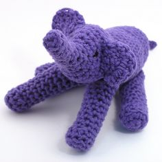Floppy elephant crochet pattern.