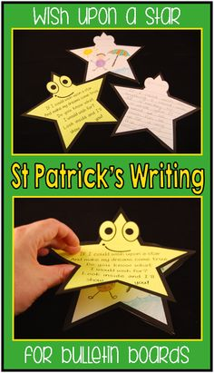 St Patrick's Day Craftivity: If I could wish upon a star and make my dreams come true, do you know what I would wish for? Look inside and I'll show you. ($) Kindergarten Writing, Teaching Writing, Teaching Ideas, Literacy, Writing Lessons, Writing Resources, Writing Activities, 2nd Grade Ela, First Grade Writing