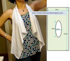 Practical Cut, Easy Sew Vest Model, mold and productions, waistcoat free … - Schnittmuster Diy Clothing, Sewing Clothes, Clothing Patterns, Dress Patterns, Fashion Sewing, Diy Fashion, Ideias Fashion, Easy Sewing Patterns, Sewing Tutorials