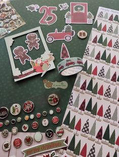 Nuova collezione Simple Stories Jingle Alla the Way, carte, chipboard, washitape, diecuts, brads, puffy stickers #simplestories #jinglealltheway #newreleasesimplestories #puffystickers #washitape #christmasframes