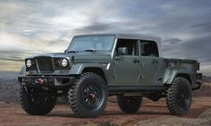 Jeep builds 7 new concept vehicles for the annual Jeep Safari. These Jeep Safari concepts pay homage to the past with modern designs and features. Jeep Wranglers, Jeep Wrangler Pickup, Jeep Wrangler Sahara, Jeep Pickup Truck, Jeep Rubicon, Jeep Jt, Red Jeep, Jeep Scrambler, Jeep Commander