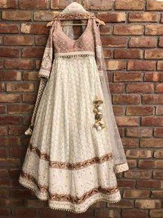 Items similar to Pure georgette net Chikankari Lehenga on Etsy Indian Lehenga, Indian Gowns, Indian Attire, Pakistani Dresses, Lehenga Choli, Indian Wear, Pakistani Clothing, Red Indian, Silk Lehenga