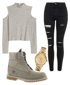 """Untitled #1124"" by pinkunicorn007 ❤ liked on Polyvore featuring Lacoste, Topshop, Timberland, women's clothing, women, female, woman, misses and juniors"