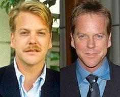 Celebrities, Then and Now Celebrities Before And After, Celebrities Then And Now, Young Celebrities, Celebs, Donald Sutherland, Kiefer Sutherland, Celebrity Gallery, Celebrity Look, Celebrity Pictures