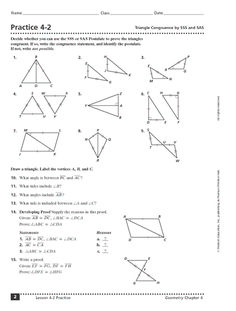 practice 4 3 triangle congruence by asa and aas 9th 11th grade school pinterest worksheets. Black Bedroom Furniture Sets. Home Design Ideas