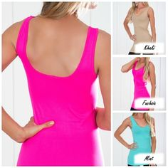 These perfect extra long layering tanks double as a slip or cami top to go under those see through Spring tops, maxi dresses or they are perfect to layer under those racerback stylish tanks.